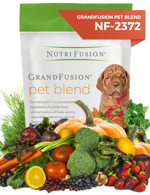 nutrifusion pet grandfusion vitamins minerals fruits vegetables powdered dogs cats pets